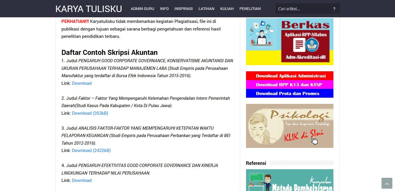 Panduan Baru Cara Download Di Karyatulisku Karyatulisku